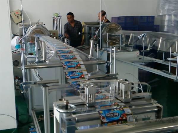 兴成鑫带彩印塑料圆筒生产线